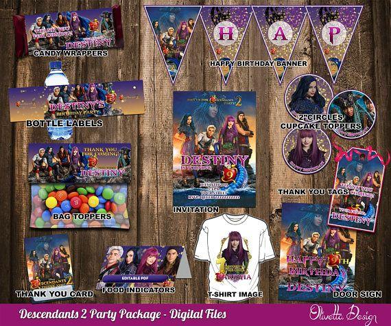 Disney Descendants 2 Jumbo Banner Letter Kit Birthday Party Supplies Decorations
