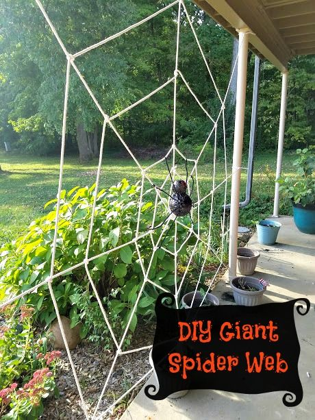Diy Giant Spider Web With Images Spider Web Halloween