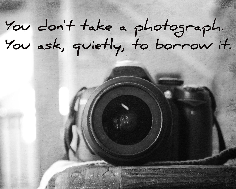 Camera Art Print Photography Quote Black White Home Decor