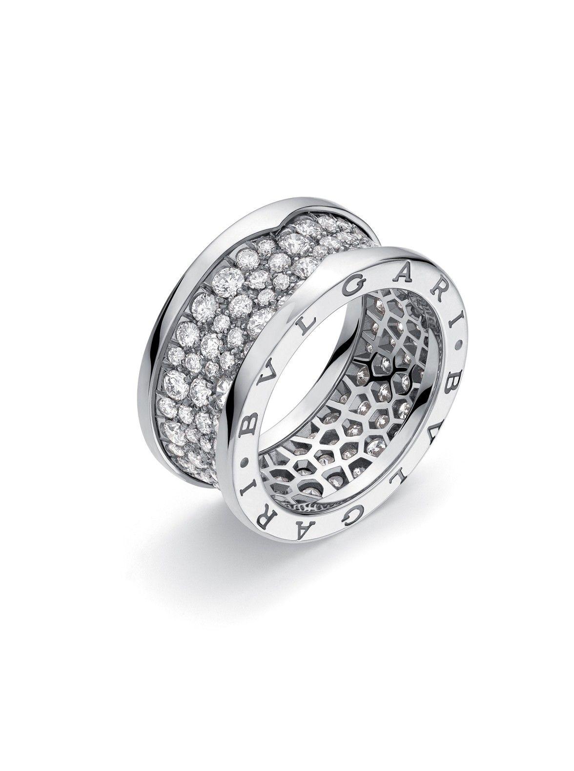 Bvlgari White Gold B Zero1 Diamond Ring At London Jewelers