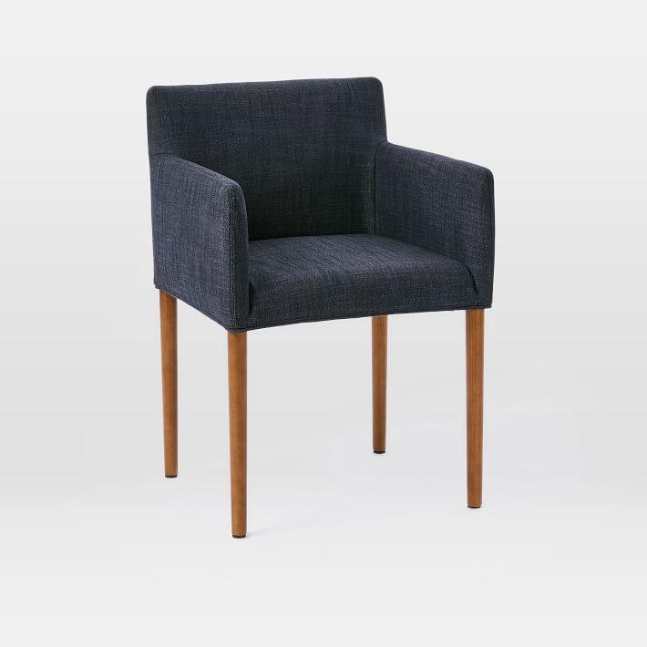 Ellis Arm Chair, Yarn Dyed Linen Weave, Indigo at West Elm ...