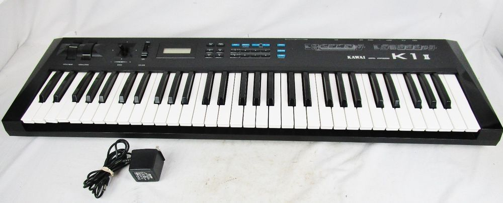 Kawai Digital Synthesizer Keyboard Model K1 ll with Ac Adater Japan