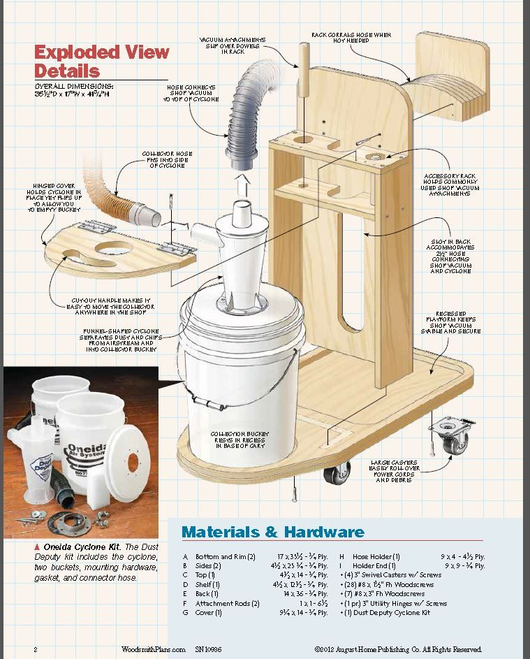 Homemade Cyclone Dust Collector Plans | Dust Extraction | Pinterest | Homemade, Woodworking and ...