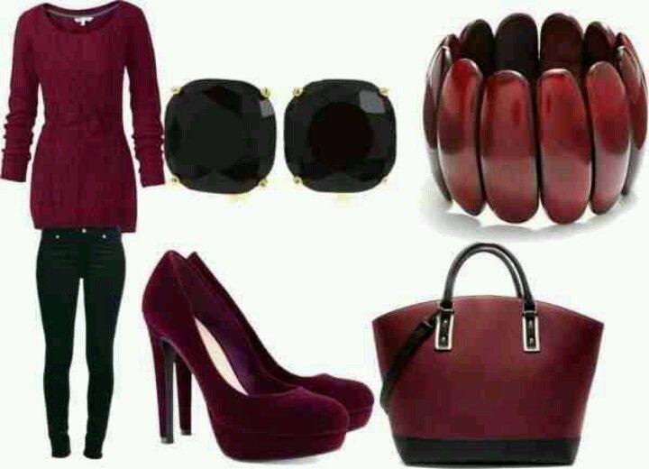 Dark red and black....nice combo