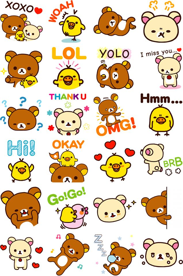 free #rilakkuma stickers for facebook ( ´ ▽ ` )ノ | clipart
