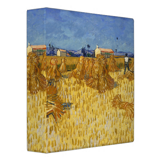 Corn Harvest In Provence By Vincent Van Gogh Binder