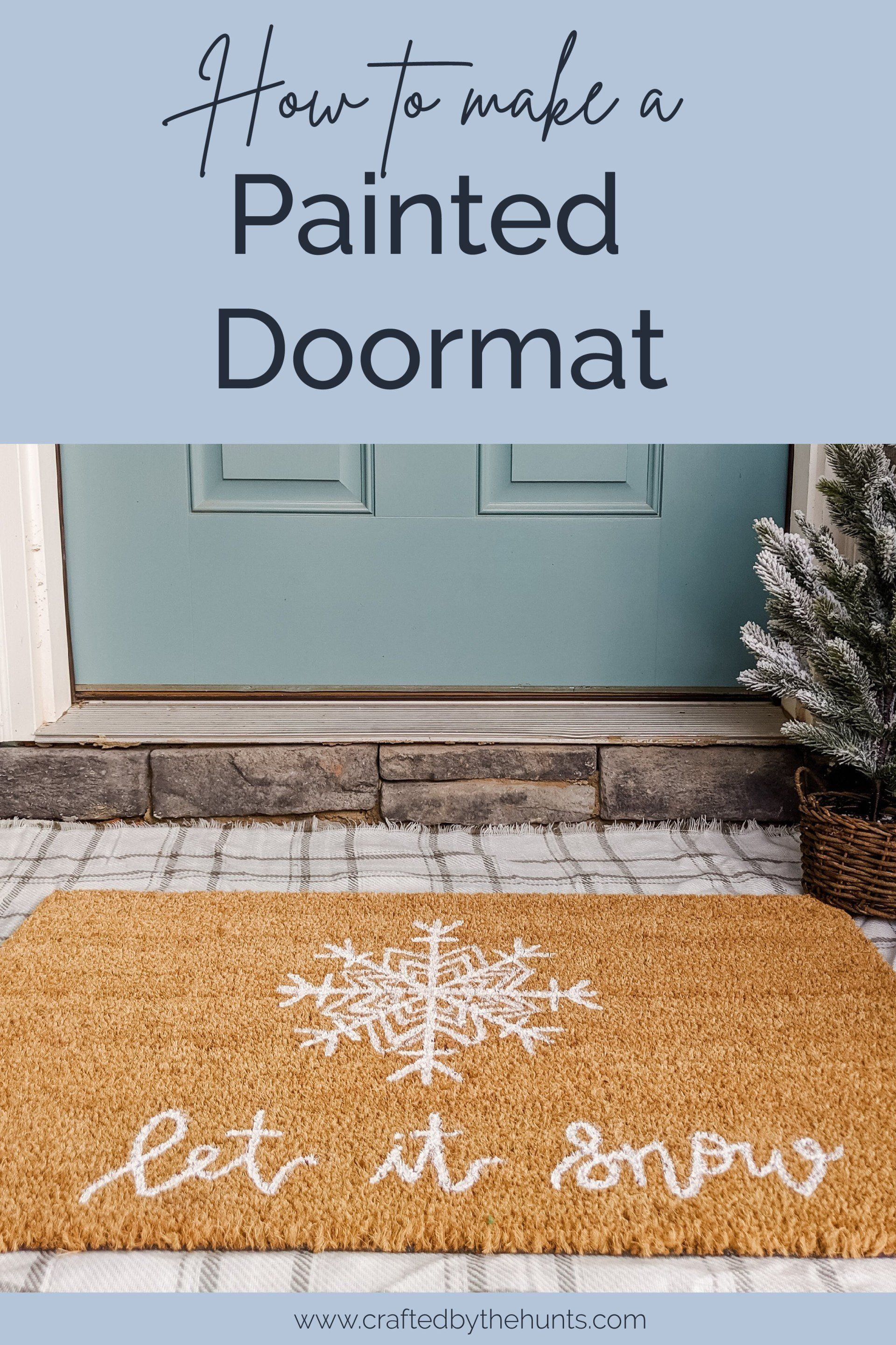 Paint This Fun Christmas Doormat For Less Than 20 In 2020 Christmas Doormat Door Mat Diy Easy Christmas Diy