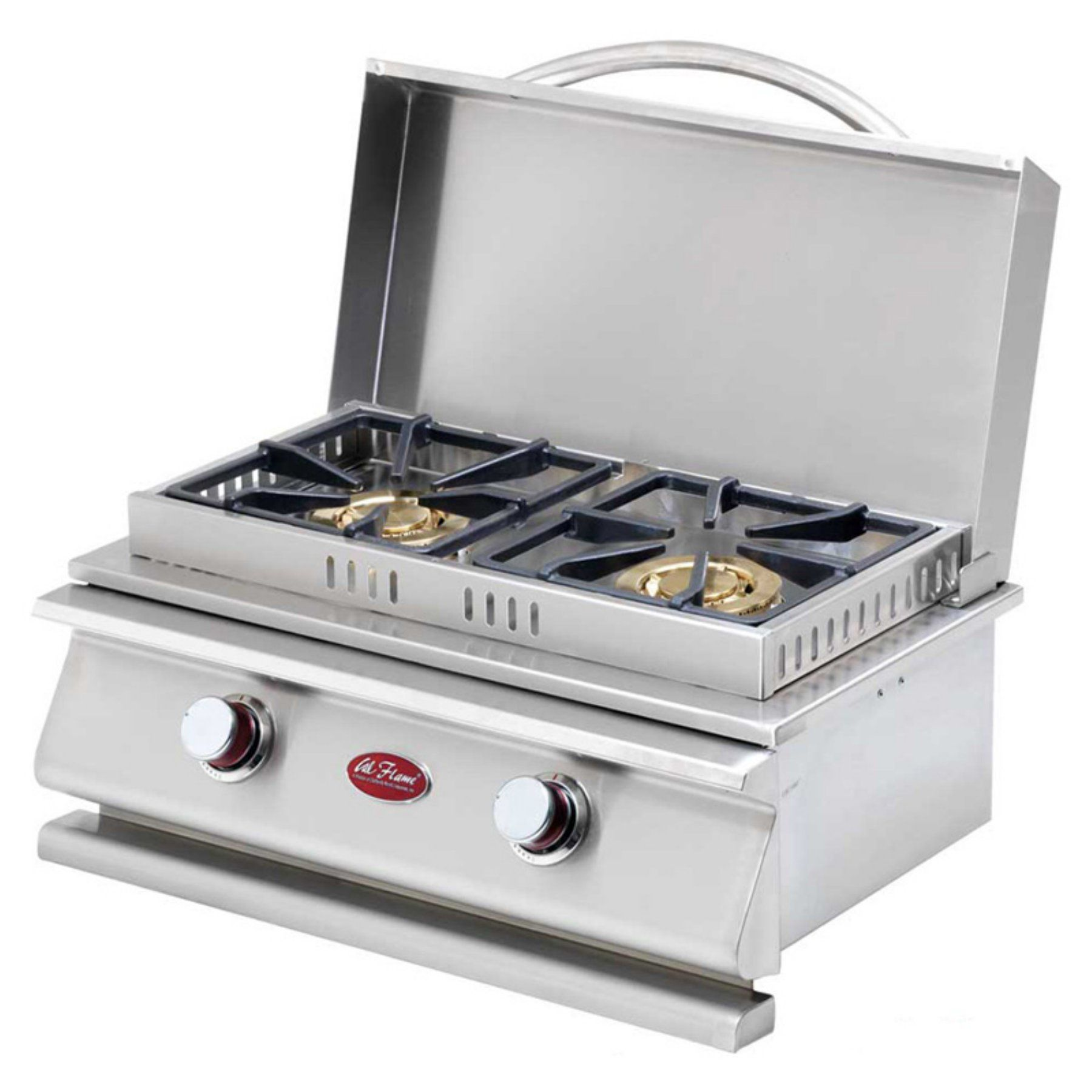 Cal Flame Deluxe Double Side By Side Burner Bbq08954p Hn Built In Grill Cal Flame Outdoor Kitchen