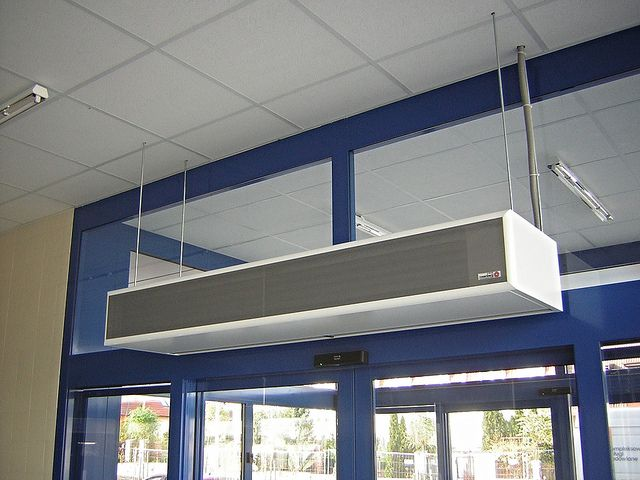 Commercial Entrances Air Curtains Cortinas De Aire Cortinas