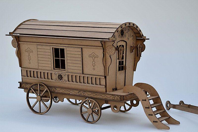Gypsy Caravan Kit- Build your own- Gypsy Wagon- miniature