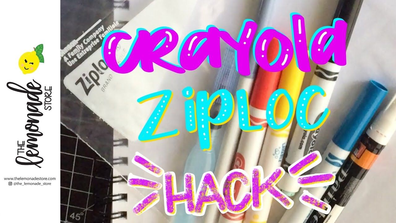 How To Use A Ziploc Bag For Watercolor Backgrounds With Crayola