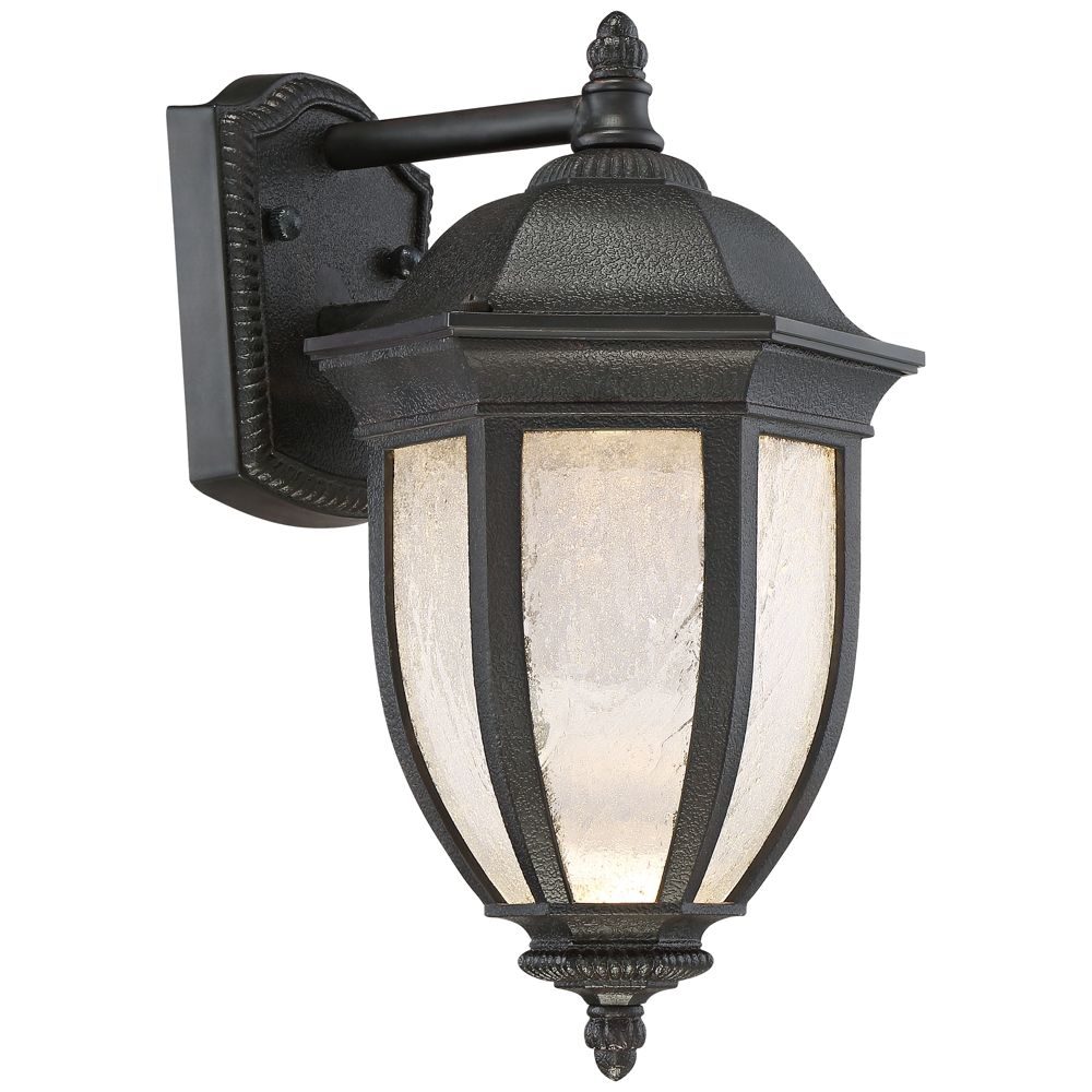 Millstone 14 High Textured Charcoal Led Outdoor Wall Light
