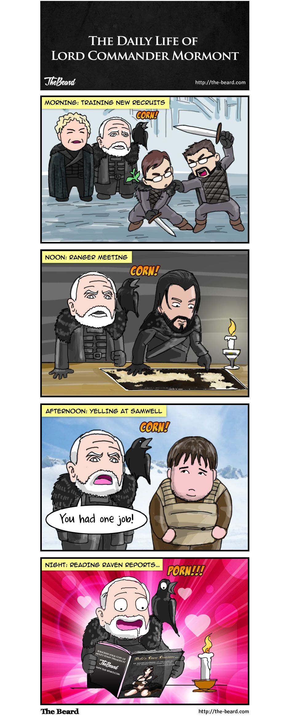 Game Of Thrones Comic The Daily Life Of Lord Commander Mormont Game Of Thrones Comic Comics Webcomic