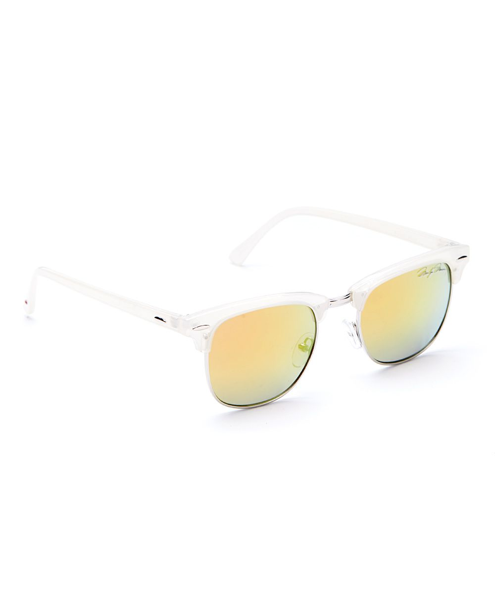 d6ec37609d White   Yellow Gradient Browline Sunglasses