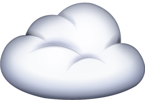 Cloud With Lightning Cloud Emoji Small Clouds Weather Clipart