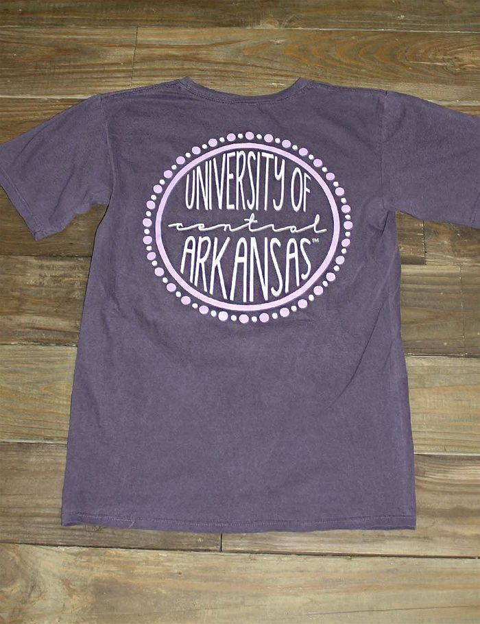 The Circle Of Your Life Revolves Around Central Arkansas Show Your Love For Your School In Th School Shirt Designs Fashion Design School Tennis Shirts Designs