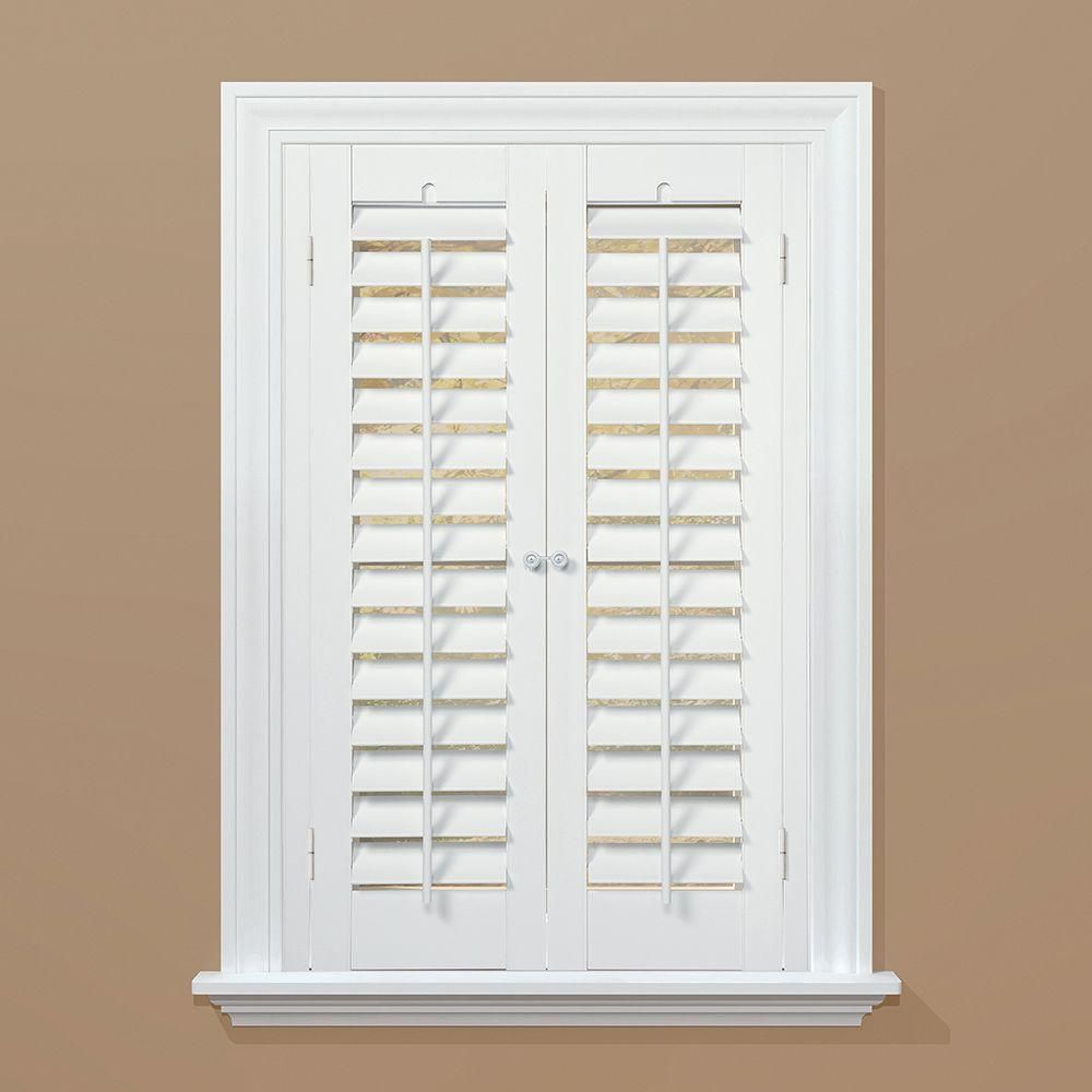 Good HOMEbasics Plantation Faux Wood White Interior Shutter (Price Varies By  Size)   QSPA3124