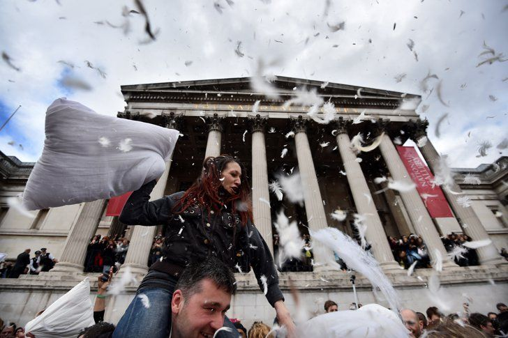 Pin for Later: World Pillow Fight Day Is a Bigger Deal Than You Thought London