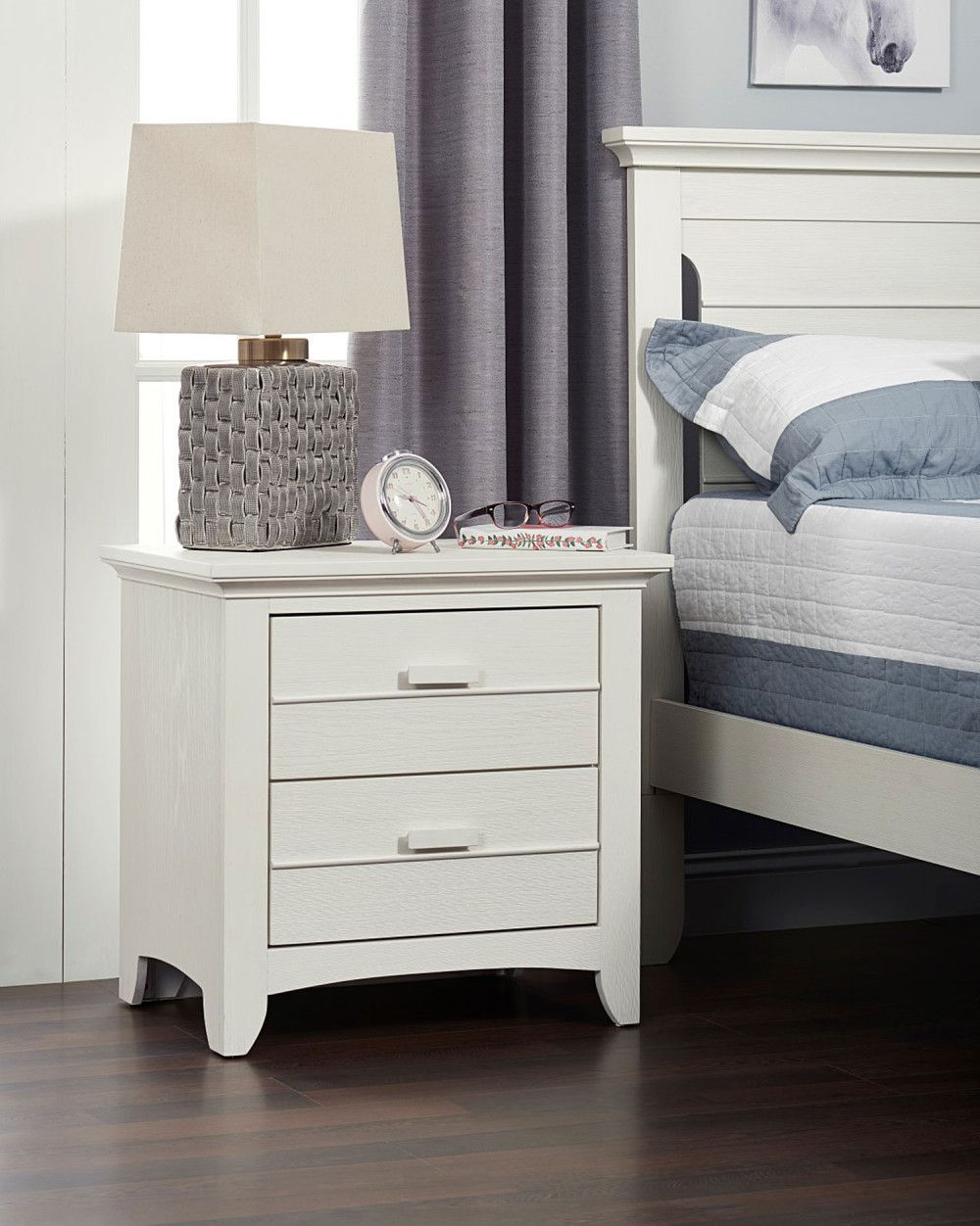 Oxford baby crestwood collection nightstand in oyster white
