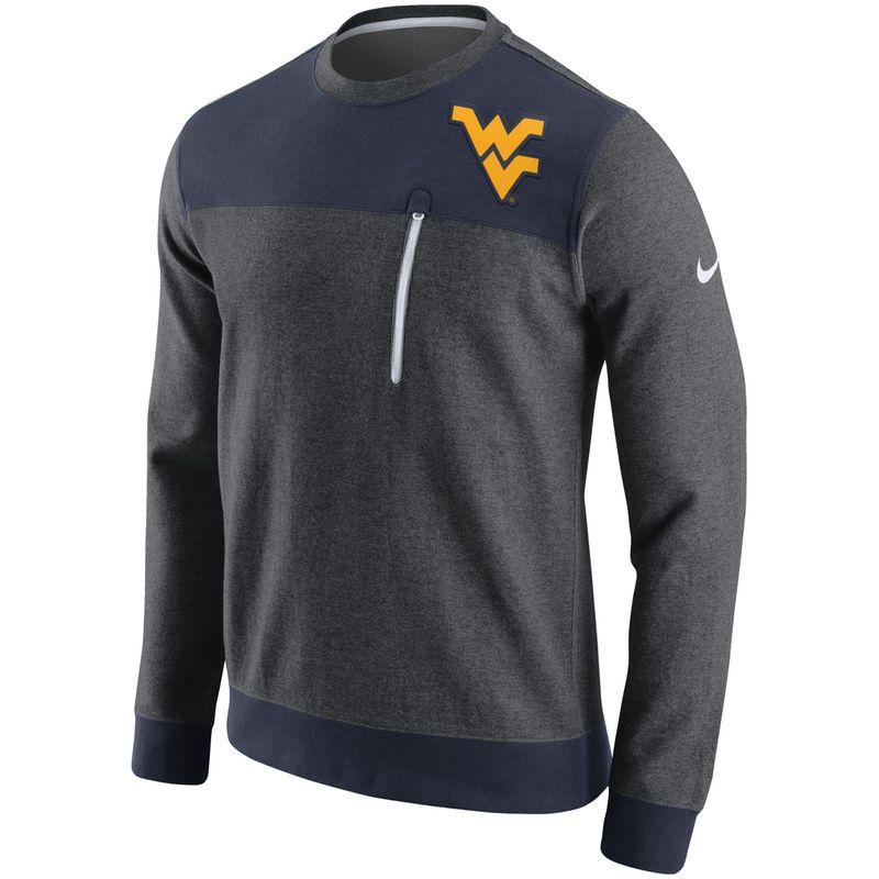 5c0d70ef West Virginia Mountaineers Nike AV15 Fleece Sweatshirt - Charcoal ...