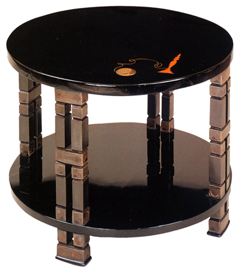 side table in lacquer by eileen gray commissioned by jacques doucet gissler interiordesign. Black Bedroom Furniture Sets. Home Design Ideas
