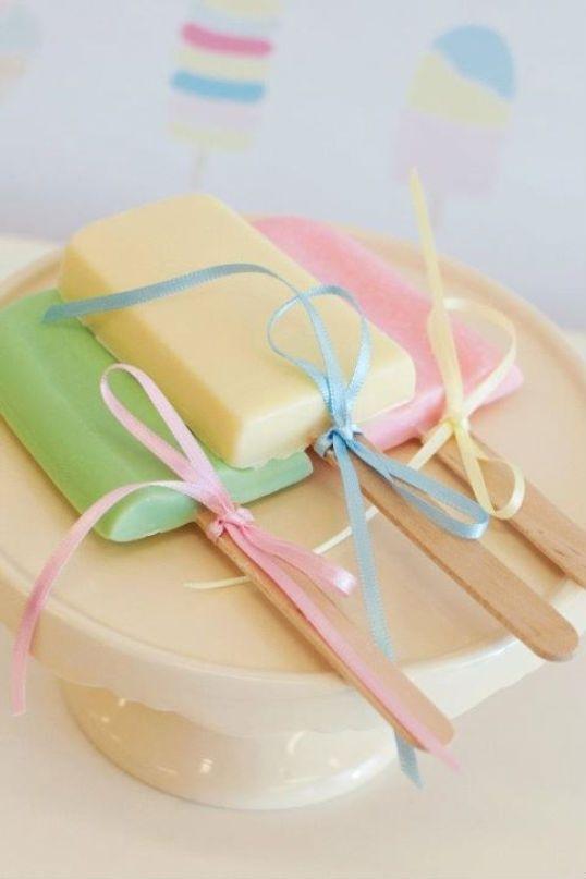 Pastel popstickel soap   I Soap