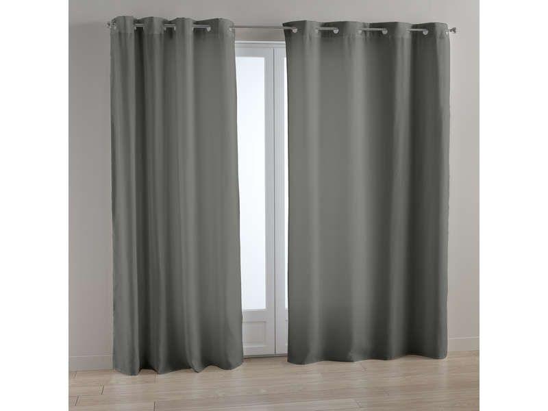 rideau 140x240 cm hanovre coloris gris vente de rideau et