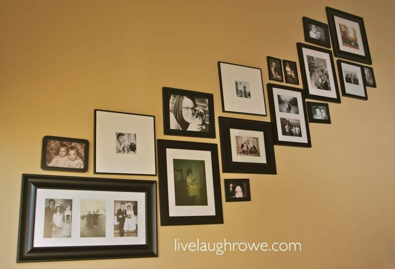 Stairway Picture Gallery  {Decorating with Portraits Series from Kristine Lynn Photography}