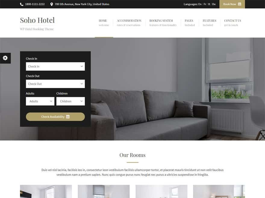 21 Best Wordpress Hotel And Resort Themes 2020 Hotels And