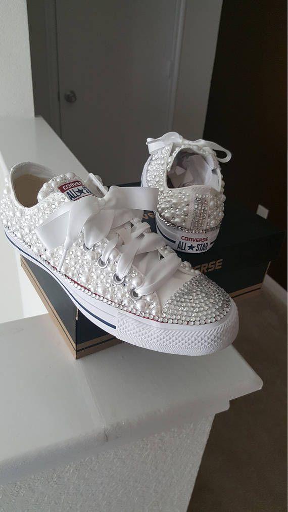ce45f535aa8f Custom Pearl Converse Bling