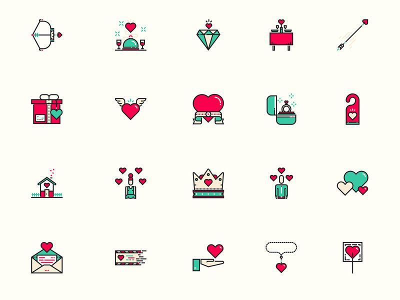 Valentines Day Icons Ui Pinterest Icons Sketches And App