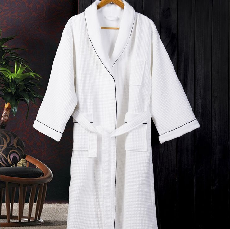 Robes For Women Dressing Gown Women\'s Solid Color Full Sleeve Waffle ...