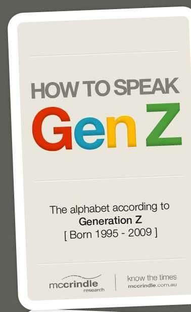 Gen Z Vocabulary Charts Generation Z Generation Vocabulary