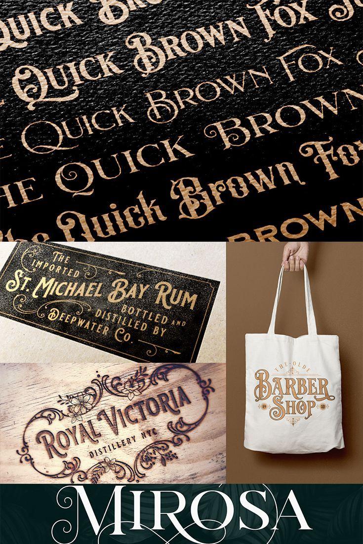 Vintage Font Bundle Vintage fonts, Professional logo