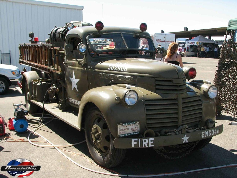 1942 Gmc Fire Truck Fire Trucks Old Trucks