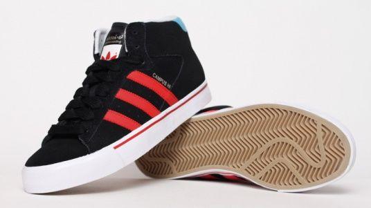 adidas campus te metà nero / rosso scarpe pinterest adidas