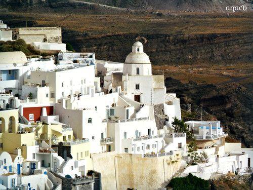 Fira, Santorini, Greece Viajar. Porque sim.