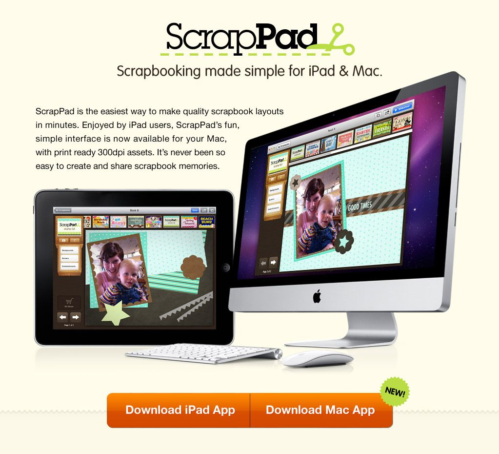 How to scrapbook on mac - Scrapbooking made simple for ipad mac scrappad
