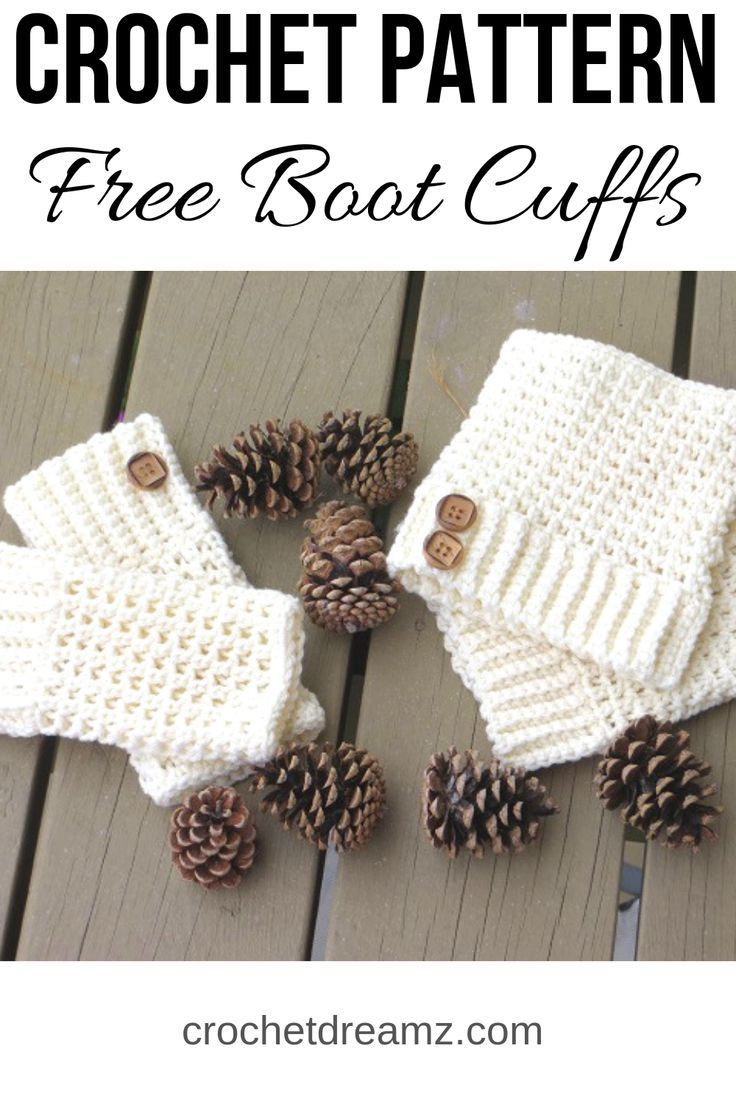 Brooklyn Boot Cuffs, Free Crochet Pattern #bootcuffs
