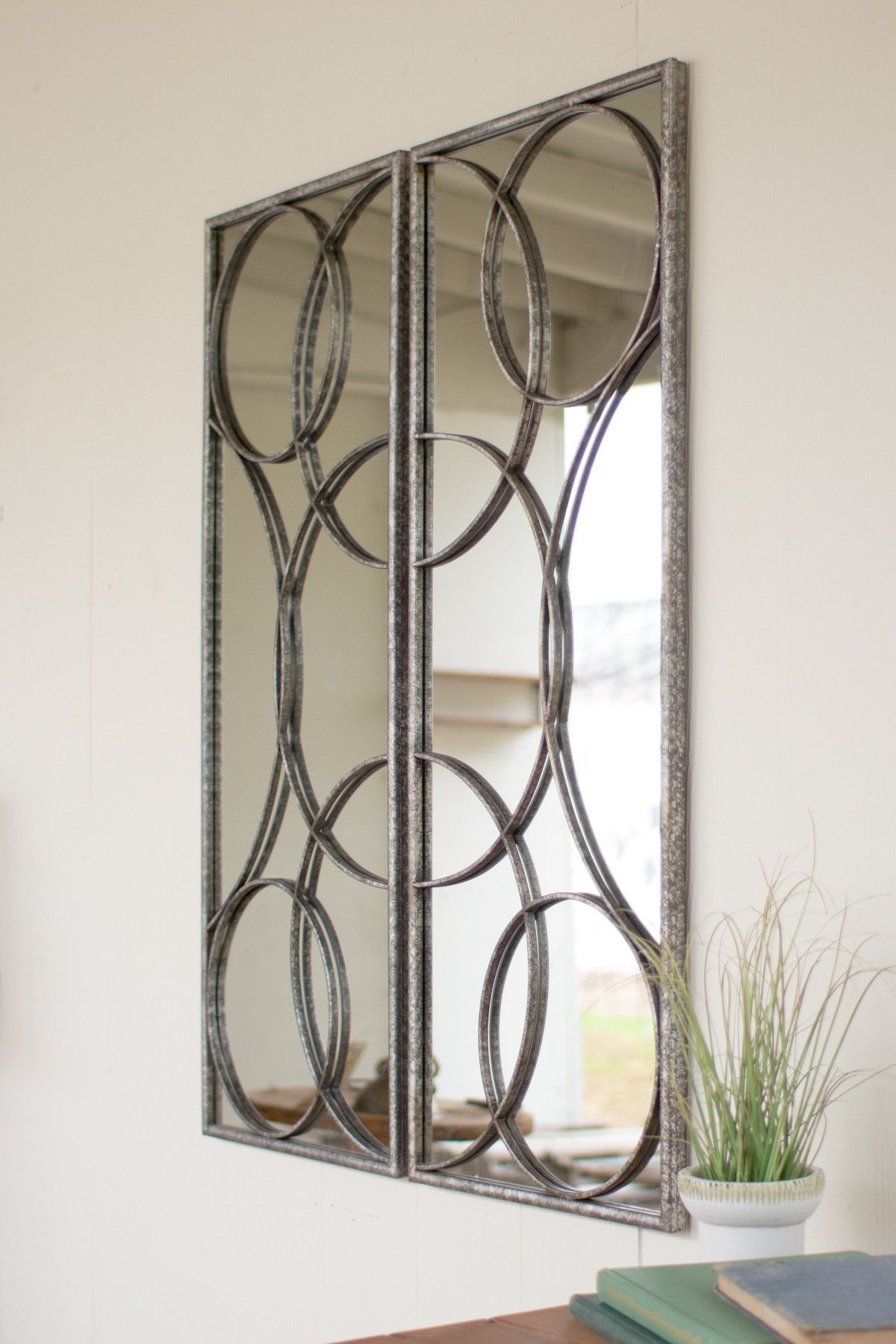 Set of two mirrored wall art pretty things for the house