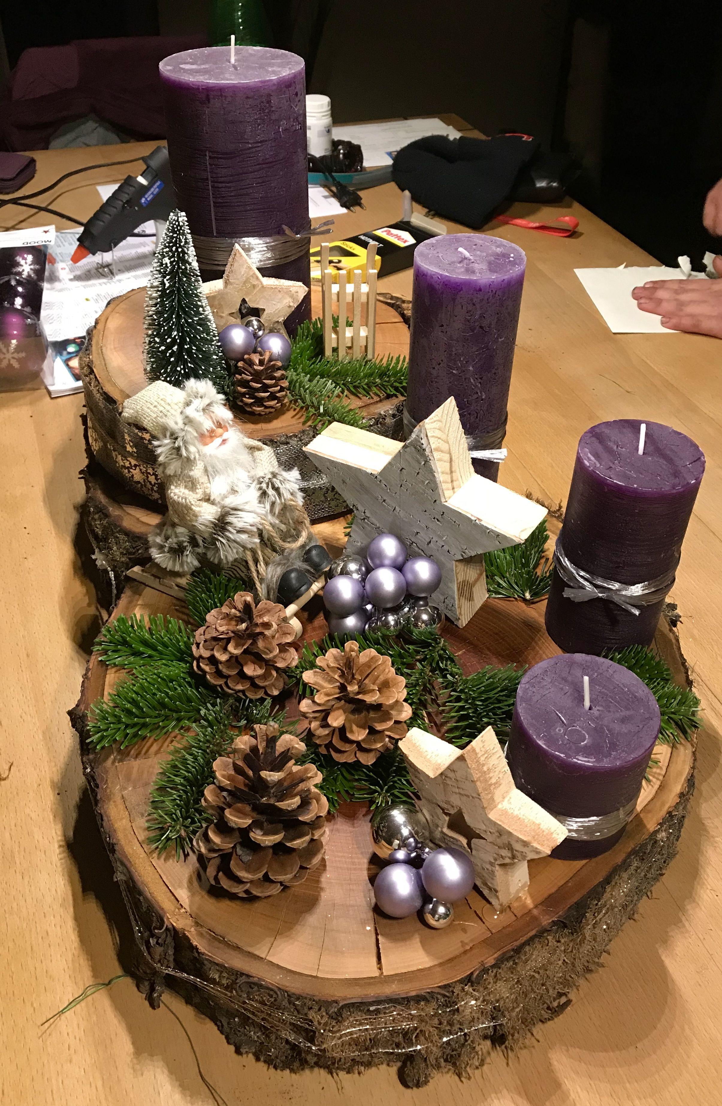 Weihnachtsgesteck #xmastabledecorations