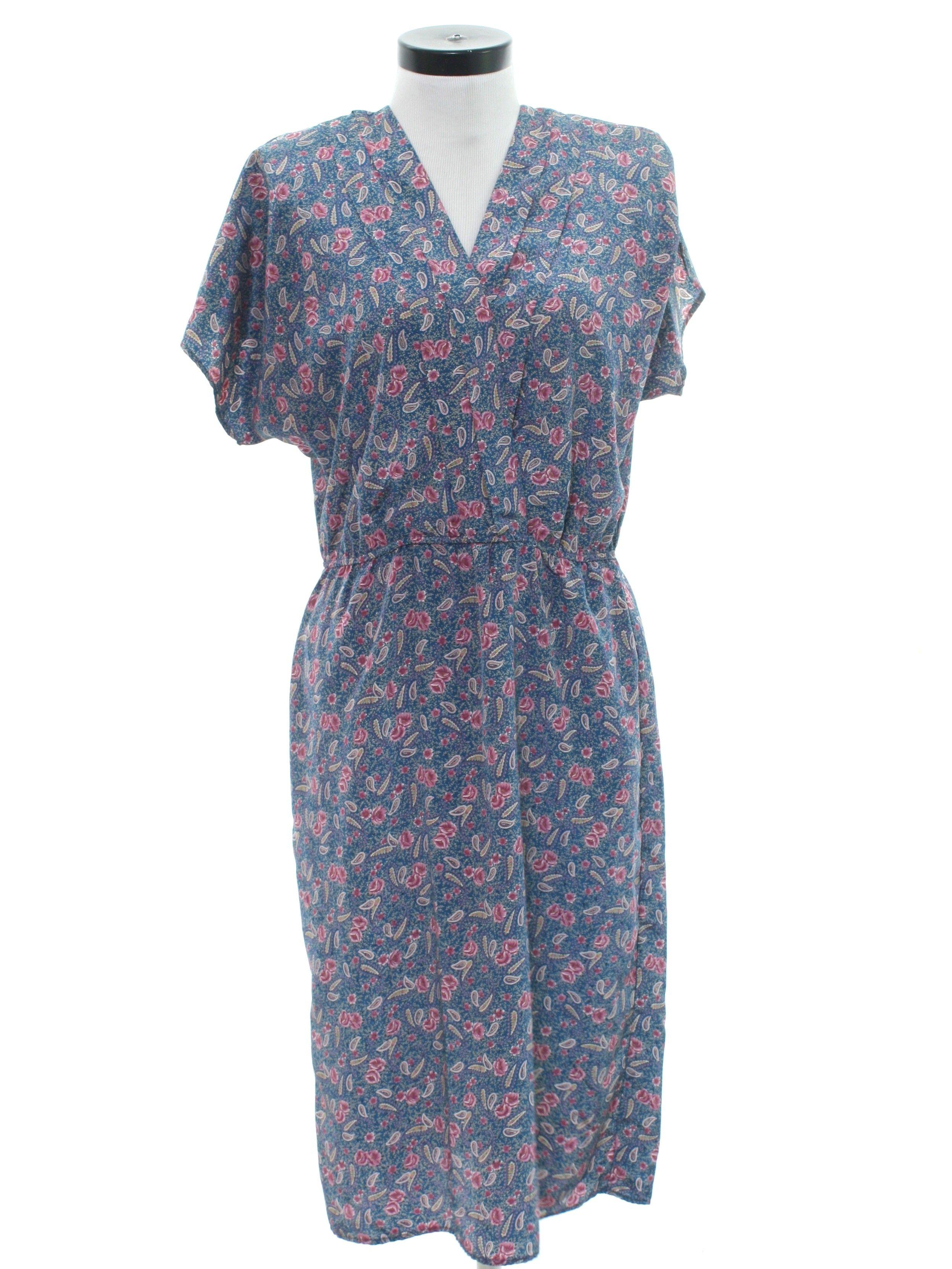 85e3c7872c5c 1980 s Unreadable Label Totally 80s Secretary Dress