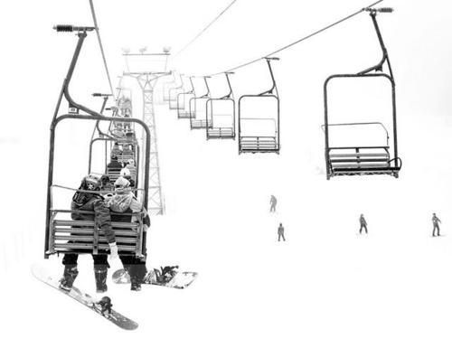 Chairlift Utopia Chair Lift Snowboarding Tattoo Skiing