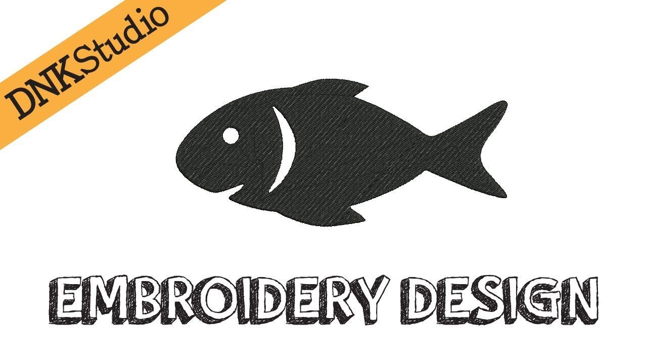 Fish Machine Embroidery Design INSTANT DOWNLOAD This design manually ...