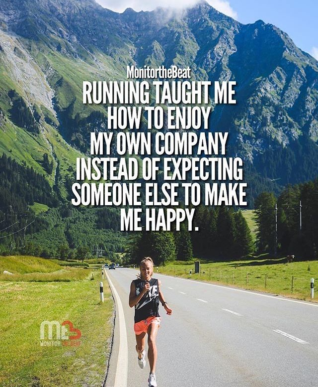 Photo of Running taught me how to enjoy my own company instead of expecting someone else …