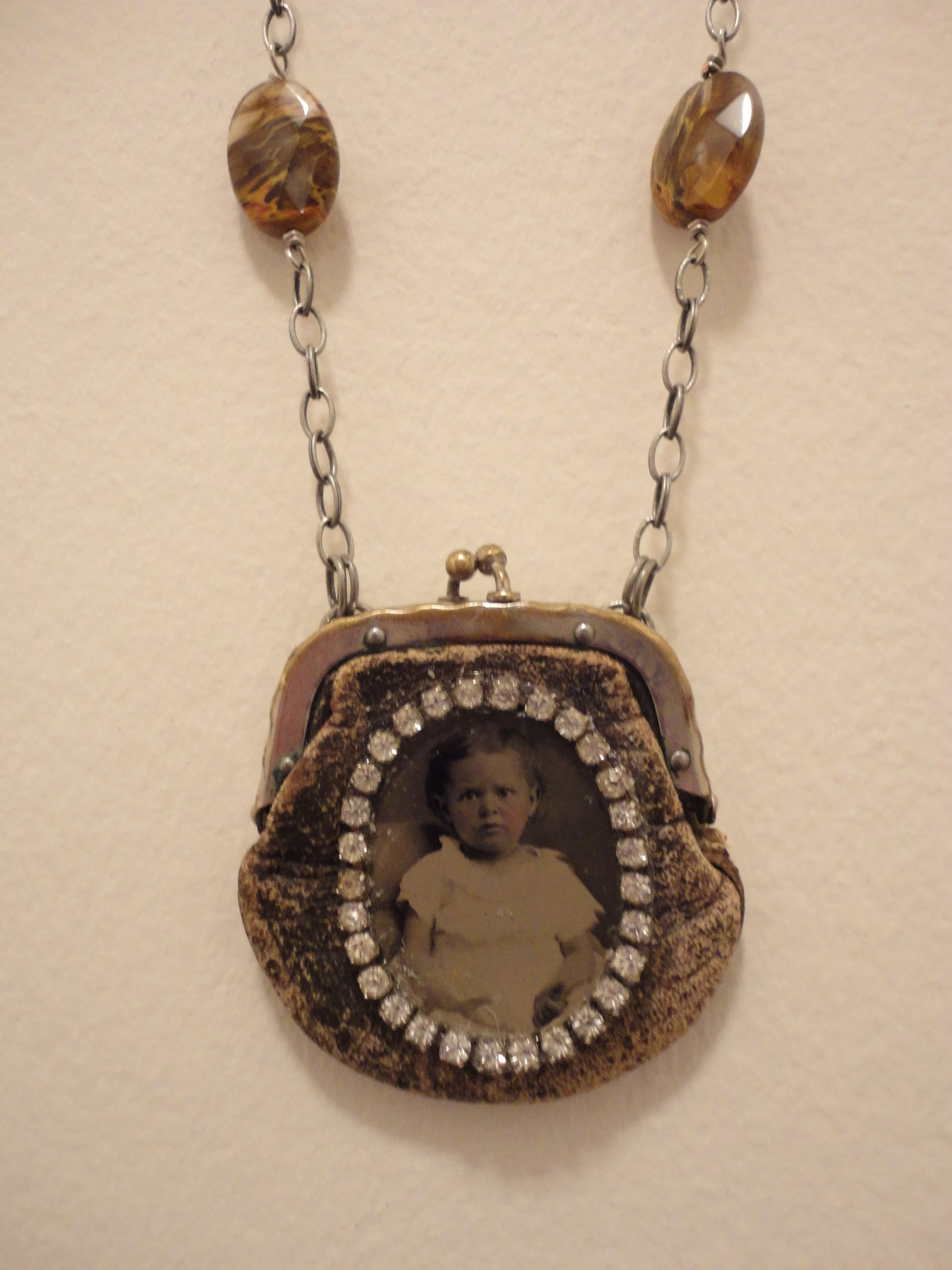 Antique Tiny Treasure Necklace  By Bonnie Arkin  bonniearkin@gmail.com