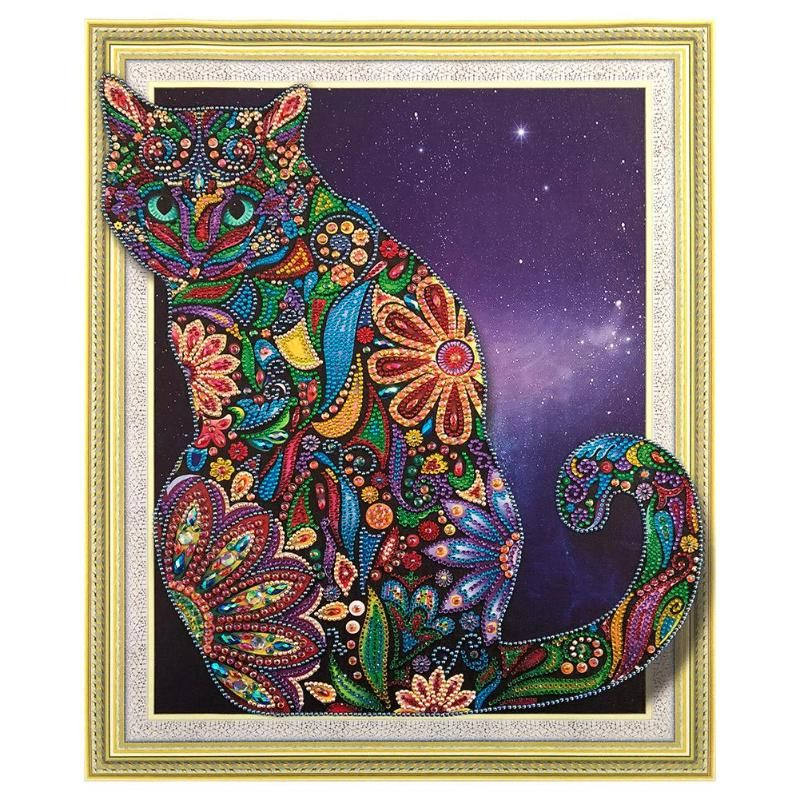 5D DIY Special Shaped Diamond Painting Cross Stitch Mosaic Kits Wall Arts Decor