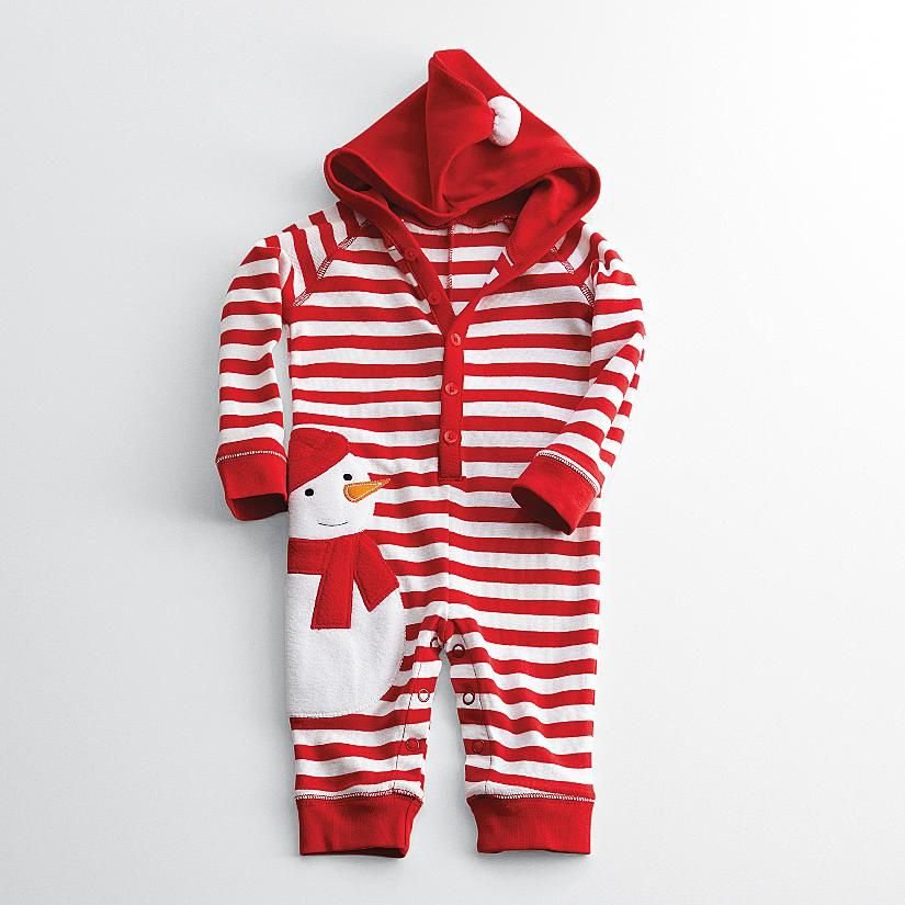 14910305f sweet snowman long johns that can be personalized. | Baby christmas ...