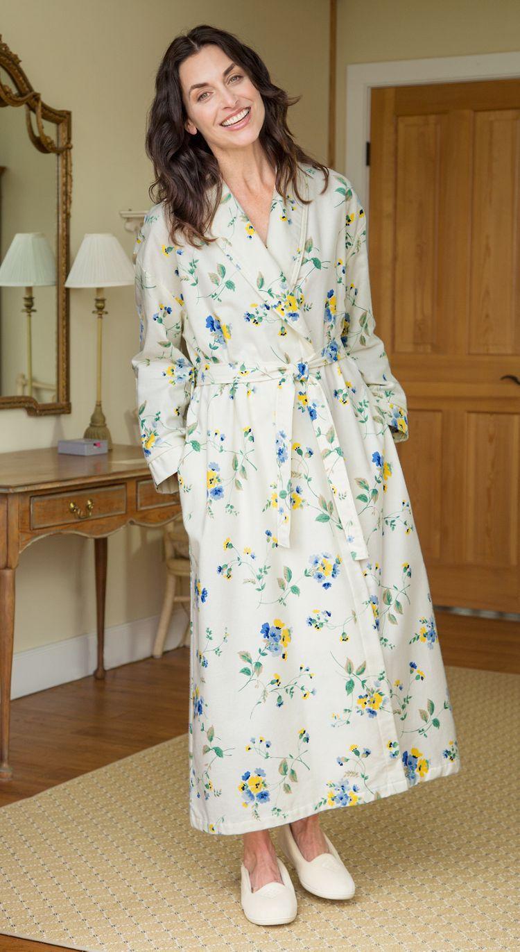 d41125c6b356 Women s Flannel Wrap Robe Thick