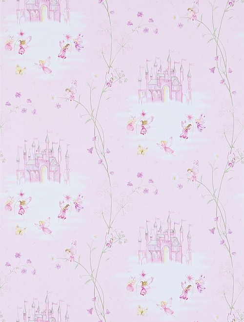 Wallpaper Sanderson Abracazoo Collection Fairy Castle In Pink Wallpaperdirect